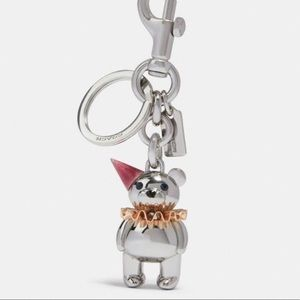 Coming Soon!NWT Coach Party Bear Keychain/Bagcharm
